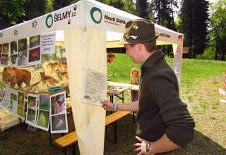 Information stand at Earth Day festival